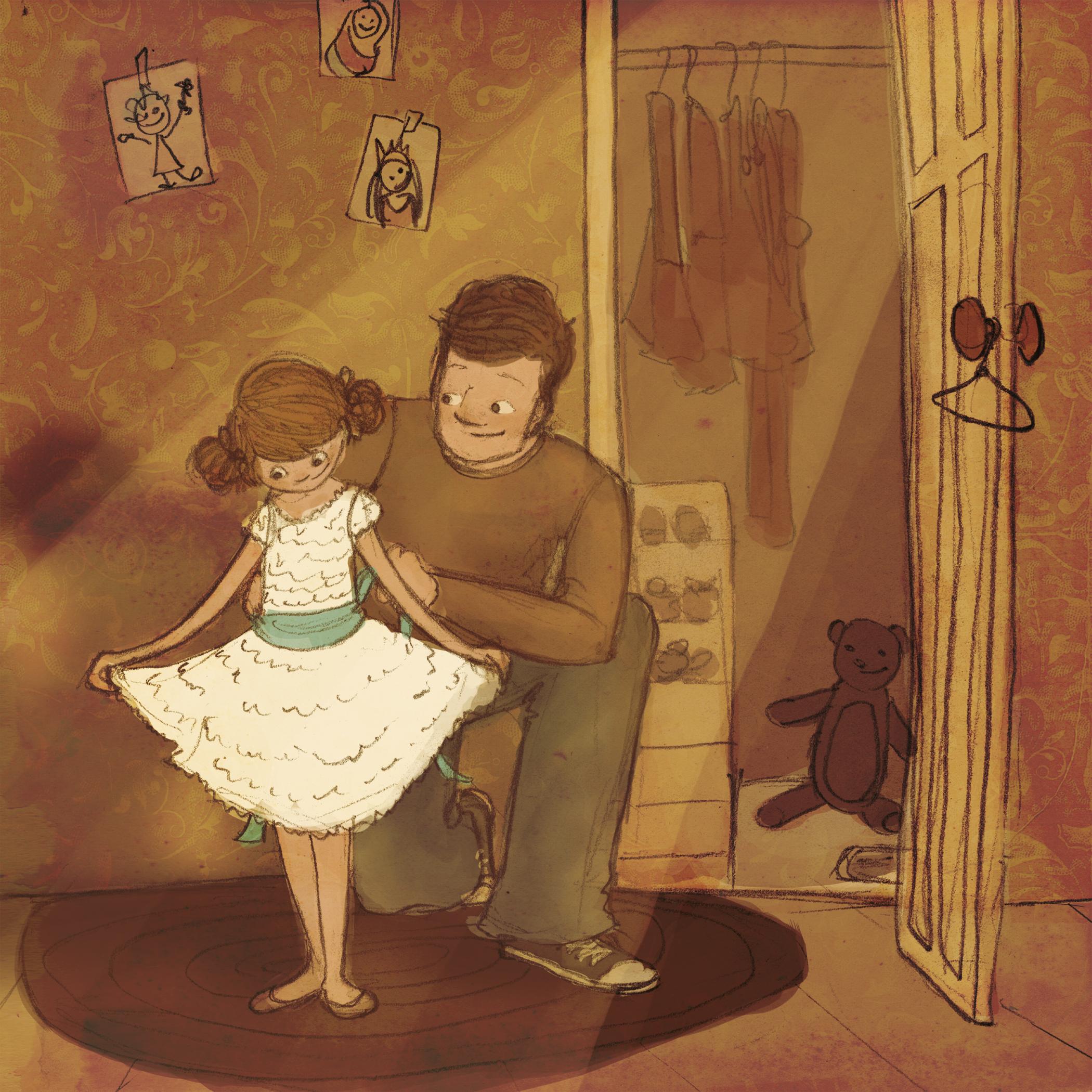 Папа и дочь открытки